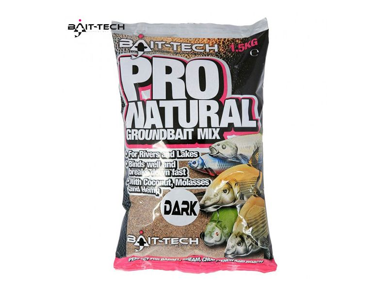 Bait-Tech Pro Natural Dark etetőanyag 1,5kg