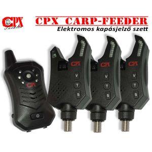 CPX Carp-Feeder Elektromos kapásjelző szett 3+1