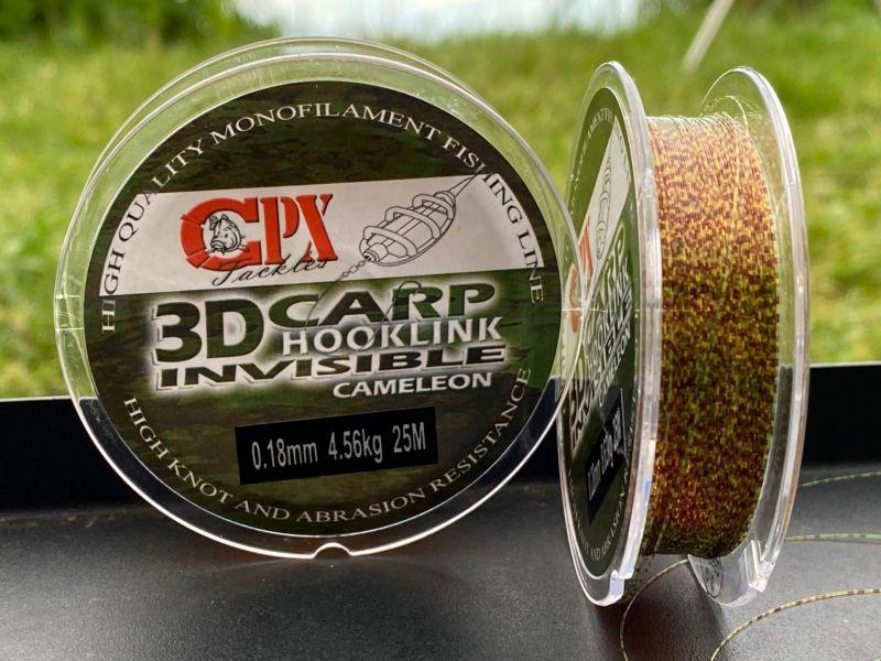 CPX 3D Carp Hooklink Cameleon - Monofil előke 25m
