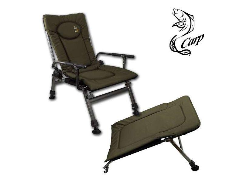 Carp F5R karfás zöld horgász fotel + lábtartó AKCIÓ!