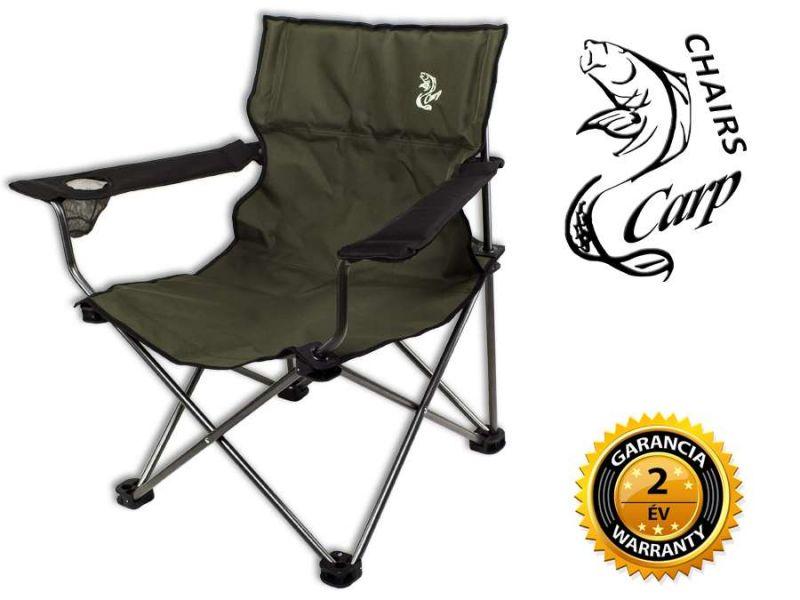 Carp F1 Karfás horgász fotel - zöld