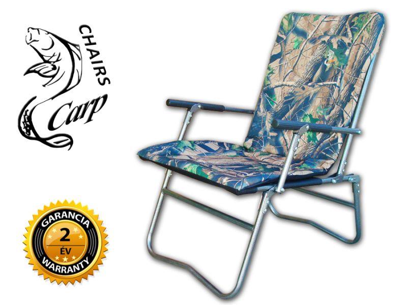 Carp F7R karfás horgász szék terep szín