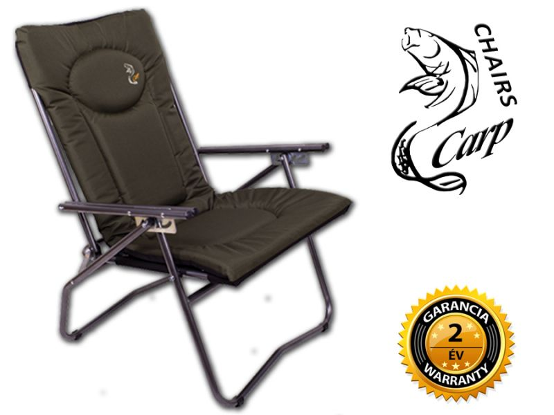 Carp F9 Karfás horgász fotel - zöld