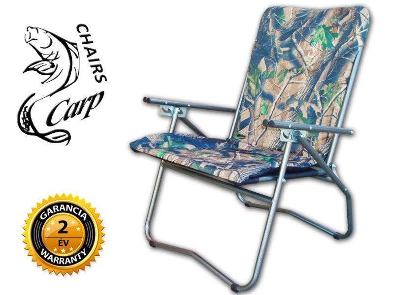 Carp F9 Karfás horgász fotel - hardwoods terep