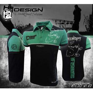 Hotspot Design - Galléros Póló - fekete/zöld - CARPFISHING E