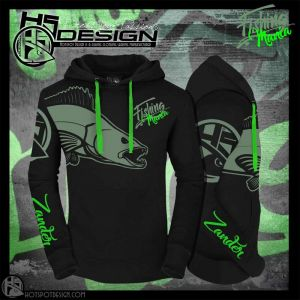 Hotspot Design - Fishing Mania - Zander - kapucnis pulóver