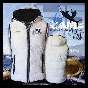Hotspot Design - Vest Big Game - Fehér bélelt mellény