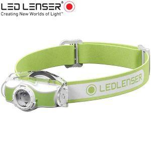 Led Lenser MH3 outdoor LED fejlámpa zöld