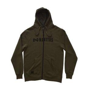 Navitas Core Zip Hoody zöld cipzáras kapucnis pulóver