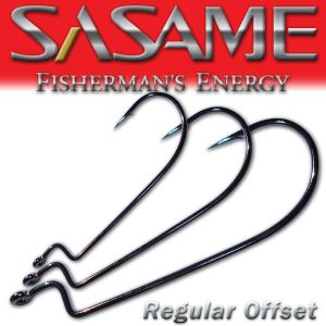 SASAME Regular Offset speciális horog - Black Nickel