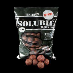 Stég Product Soluble Boilie 24mm Halibut 1kg