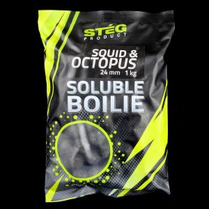Stég Product Soluble Boilie 24mm Squid & Octopus 1kg