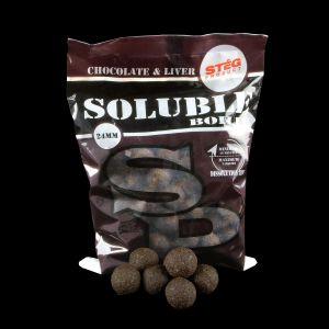 Stég Product Soluble Bojli 24mm Chocolate&Liver 1kg
