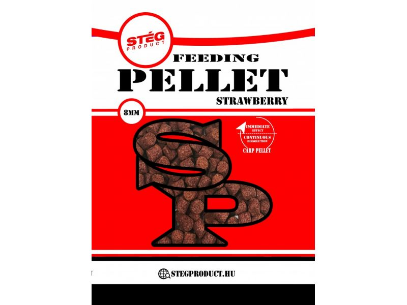 Stég Product Feedeing Pellet 8mm Strawberry 800gr