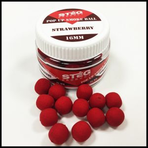 Stég Product Pop Up Smoke Ball 16mm Strawberry 40gr
