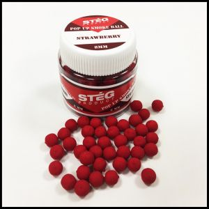 Stég Product Pop Up Smoke Ball 8mm Strawberry 20gr