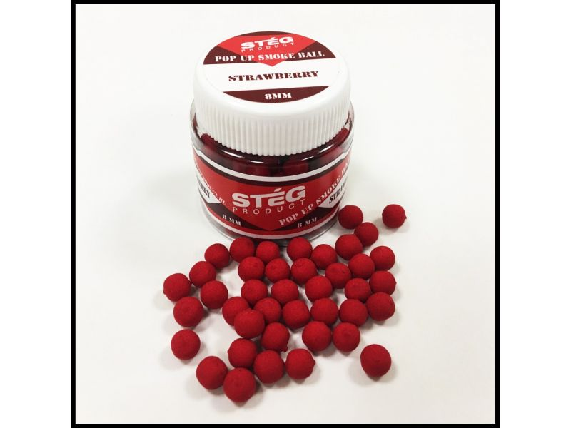 Stég Product Pop Up Smoke Ball 8mm Strawberry 20gr