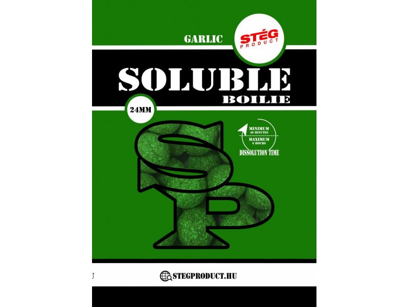 Stég Product Soluble Boilie 24mm Garlic 1kg