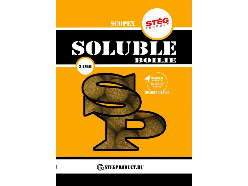Stég Product Soluble Boilie 24mm Scopex 1kg
