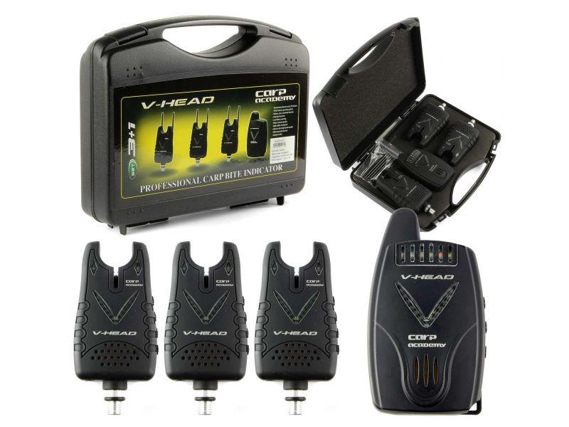 Carp Academy V-Head elektromos kapásjelző szett 3+1