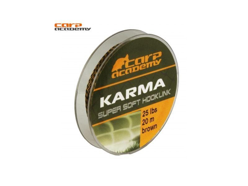 Carp Academy Karma Hooklink 20m (15lb; 20lb; 25lb) Brown és