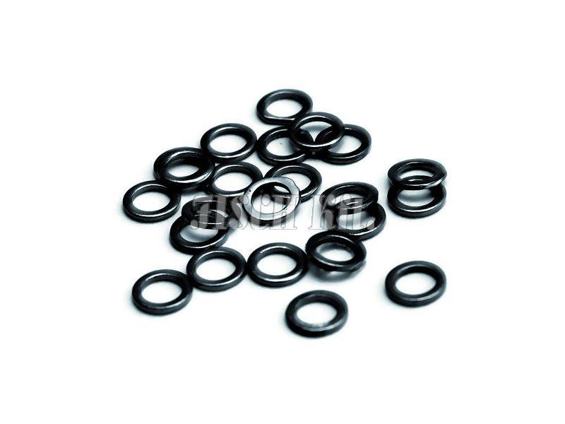 Carp Zoom Előkegyűrű, 2mm, matt fekete, 25db