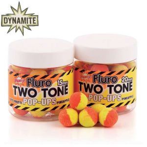 Dynamite Baits Two Tone Fluoro Pop-Up bojli 15mm