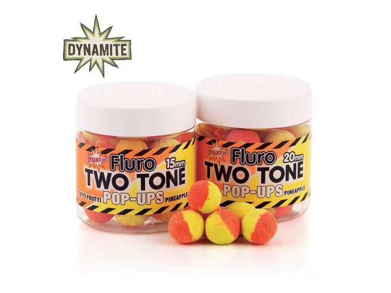 Dynamite Baits Two Tone Fluoro Pop-Up bojli 15mm