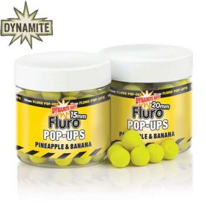 Dynamite Baits Pineapple & Banana Fluro pop-up bojli