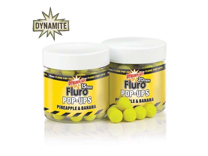 Dynamite Baits Pineapple & Banana Fluro pop-up bojli
