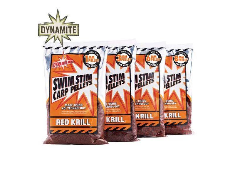 Dynamite Baits Swim Stim Red Krill Pelletek 900g
