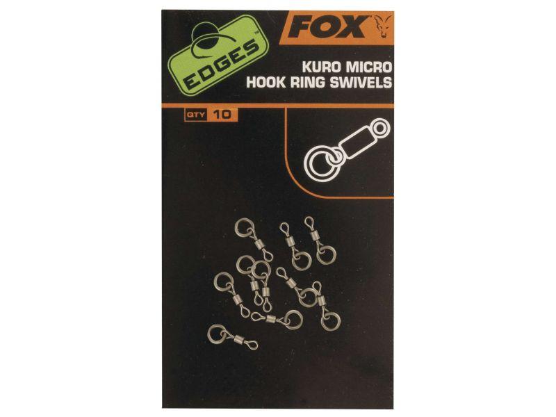 Fox Edges Kuro Micro Hook Ring Swivel - Karikás Mikroforgó