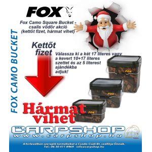 Fox Camo Square vödör akció kettőt fizet, hármat vihet