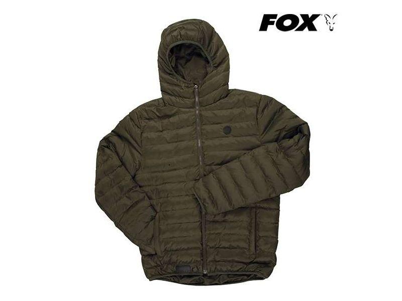 Fox Chunk Olive Quilted Jacket - bélelt kabát