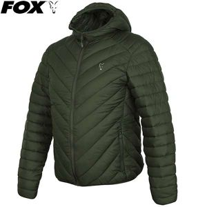 Fox Collection Quilted Jacket Green/Silver - bélelt kabát