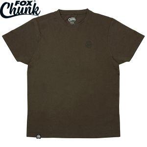 Fox Chunk Dark Khaki Classic T-Shirt - XL - Környakú póló