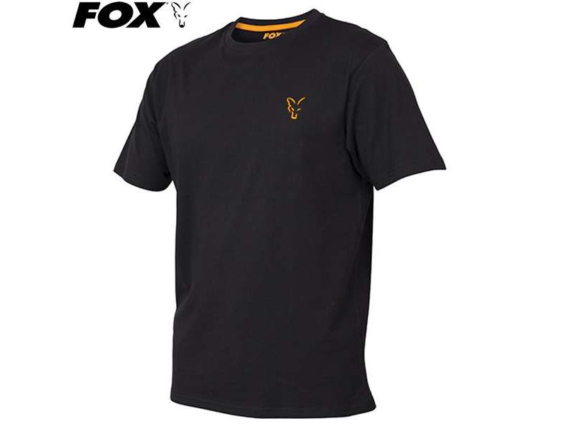 Fox Collection Orange & Black T-shirt rövidujjú póló