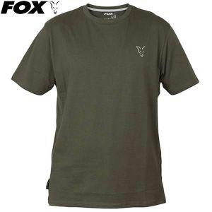 Fox Collection Green & Silver T-Shirt - zöld környakú pó