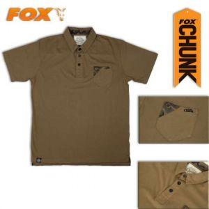 Fox Chunk Khaki Stonewash Polo - Galléros póló