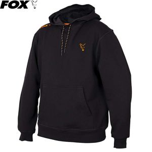 Fox Collection Orange & Black Hoodie - kapucnis melegítő