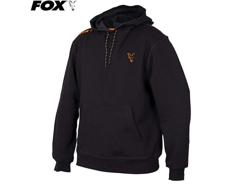 Fox Collection Black & Orange Hoody - kapucnis melegítő