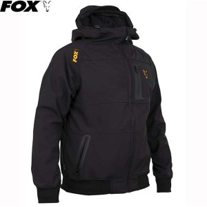 Fox Collection Orange & Black Shell Hoodie Kapucnis fels