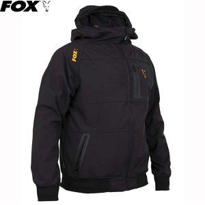 Fox Collection Orange & Black Shell Hoodie Kapucnis fels