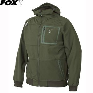 Fox Collection Green & Silver Shell Hoodie Kapucnis fels