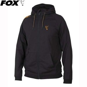 Fox  Black Orange Lightweight Hoody - kapucnis pulóver