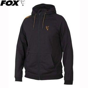Fox Orange & Black Lightweight Hoody - kapucnis pulóver