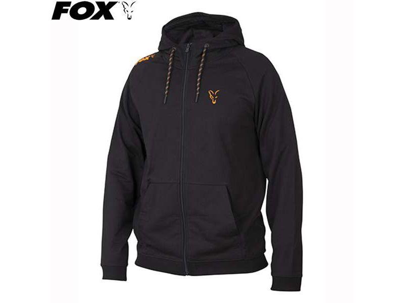 Fox  Black Orange Lightweight Hoody - kapucnis pulóver