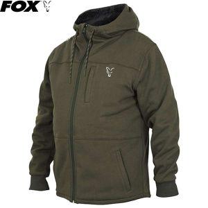 Fox coll. Green & Silver Sherpa kapucnis bélelt felső