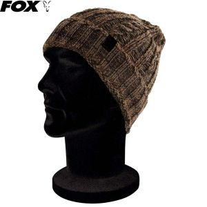 Fox Camo / Black Knit Beanie kötött sapka