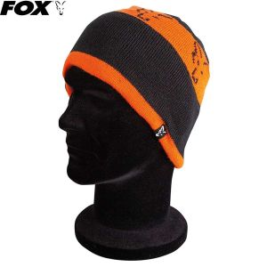 Fox Black / Orange Beanie kötött sapka